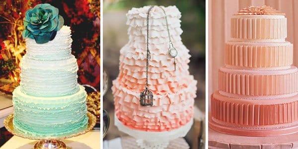bolo ombre degrade casamento