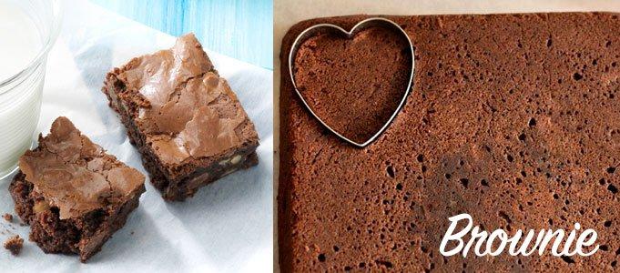 brownie cortado