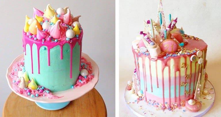 foto de drip cakes
