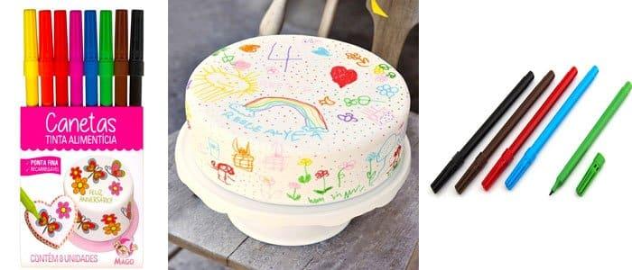 caneta decorativa bolo