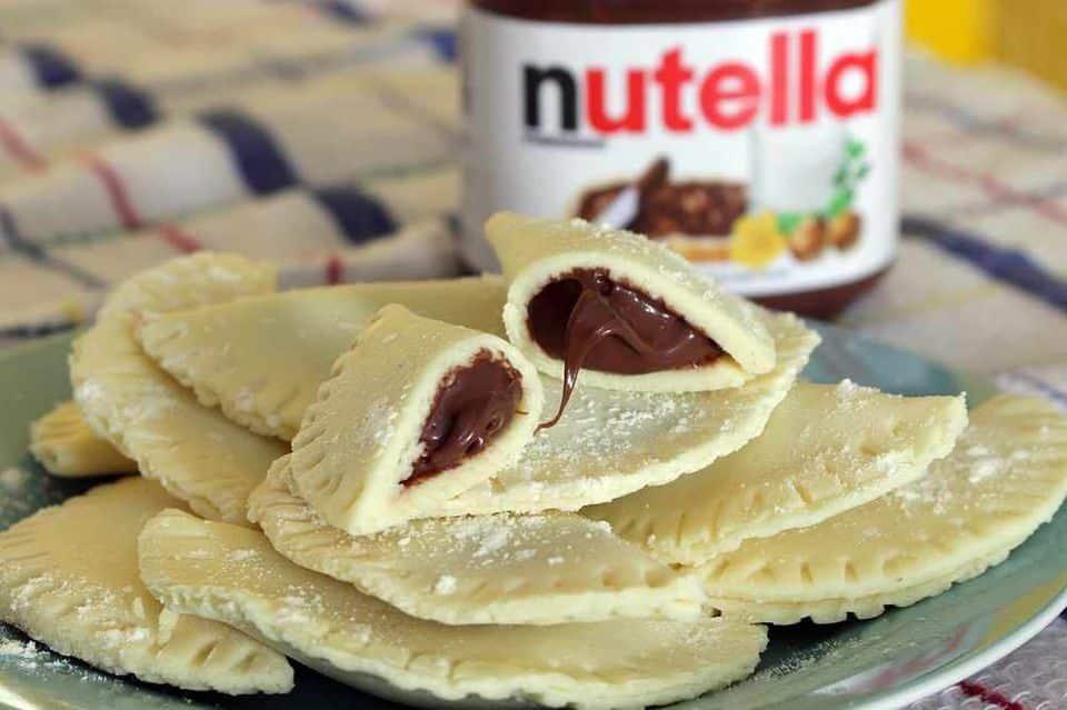 pastel ninho com nutella