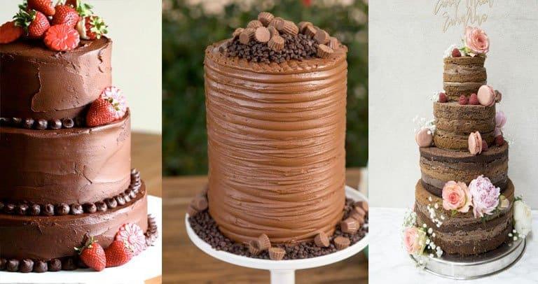 bolo chocolate casamento