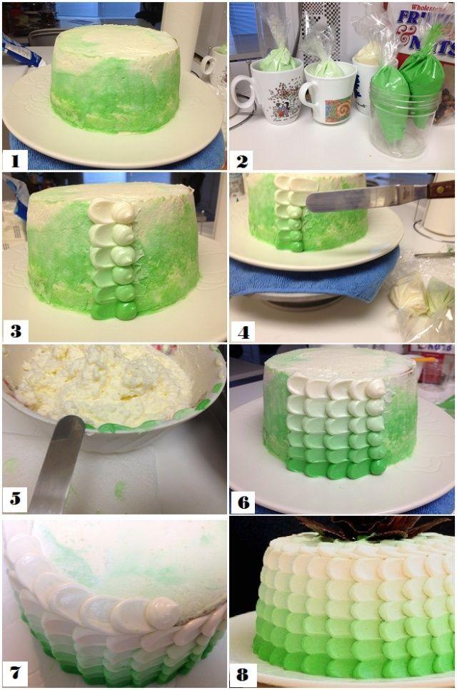 bolo escamas efeito ombre