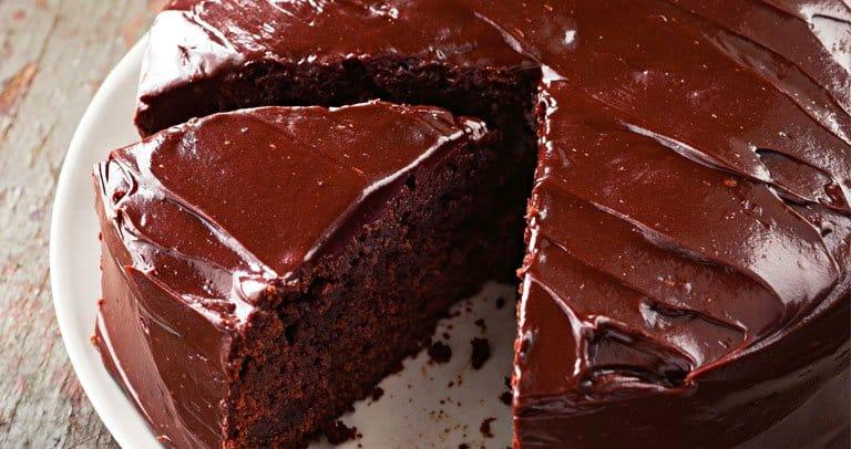 bolo ganache chocolate