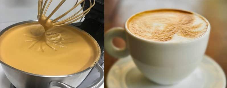 cappuccino feito na batedeira cremoso