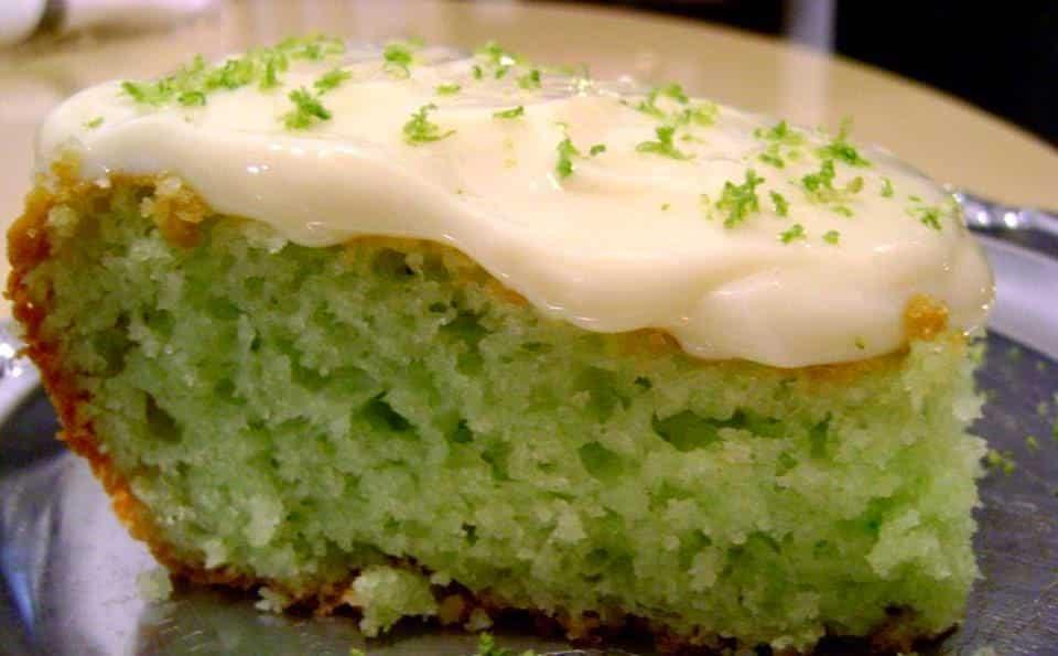 bolo verde limao gelatina