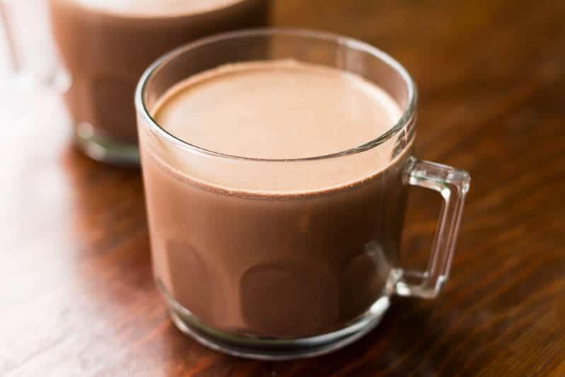 chocolate quente receita