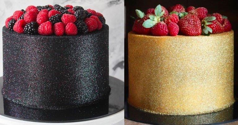 foto bolo glow cake