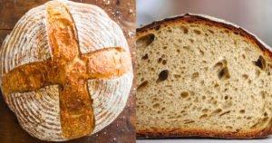 pão com levain
