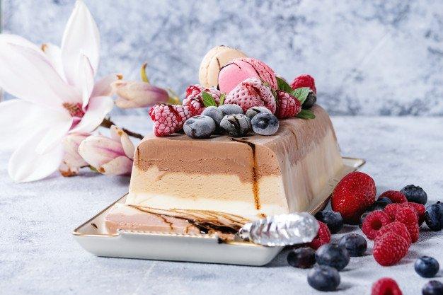 bolo de sorvete tradicional