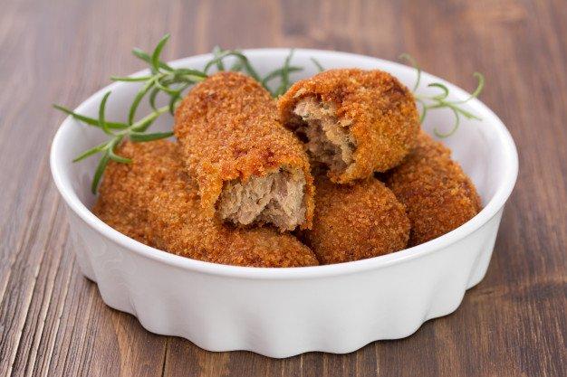 Receita de croquete de carne com milho