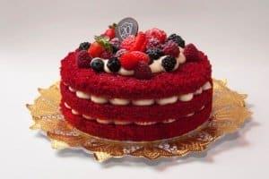 naked cake de red velvet