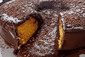bolo vulcão vegano