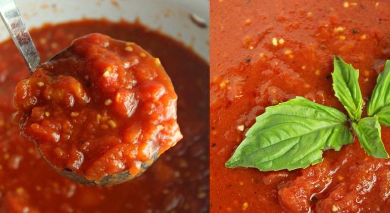 molho tomate feito em casa