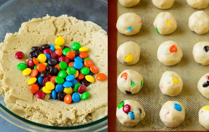 Massa Cookie de M&M's