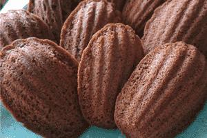 receita Madeleines de Chocolate