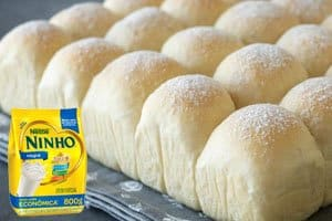 receita de pão de leite ninho