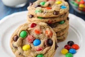 Receita de Cookie de M&M's