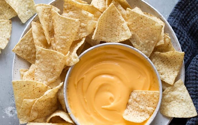 molho queijo nachos