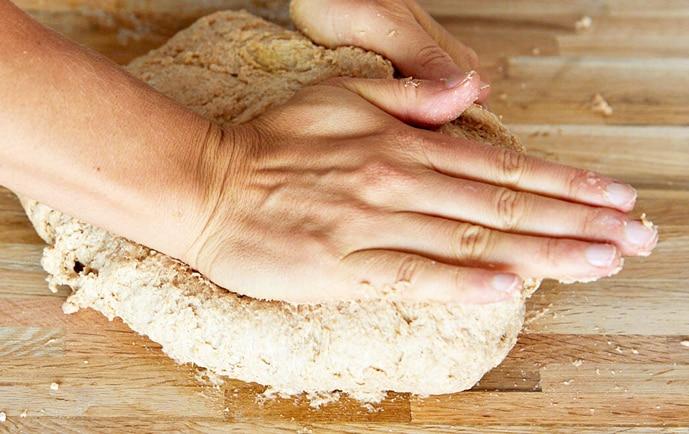 Massa de pão integral