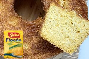 bolo com flocao de milho
