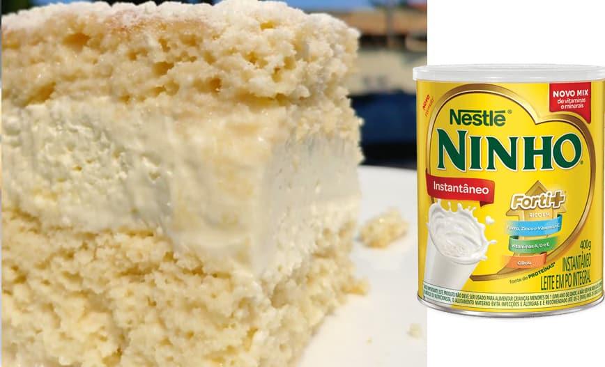 bolo gelado leite ninho
